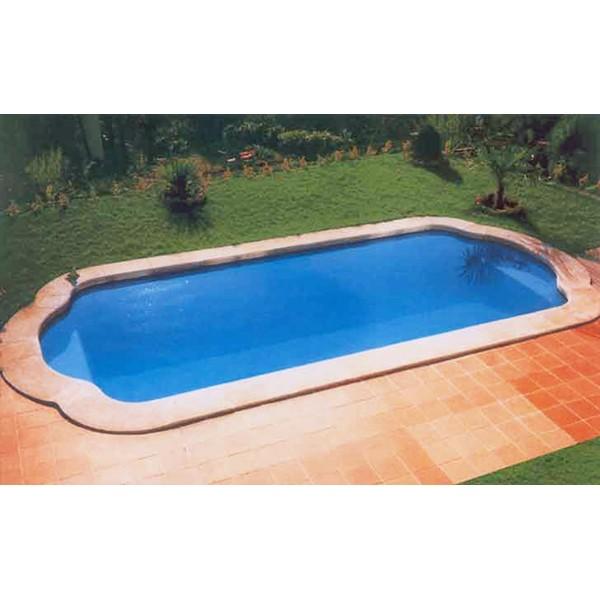 Fibreglass swimming pool model c 8 amusement logic store - Piscinas de fibra de vidrio ...